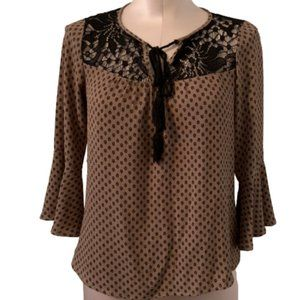 Lily White Peasant Top - Juniors Small
